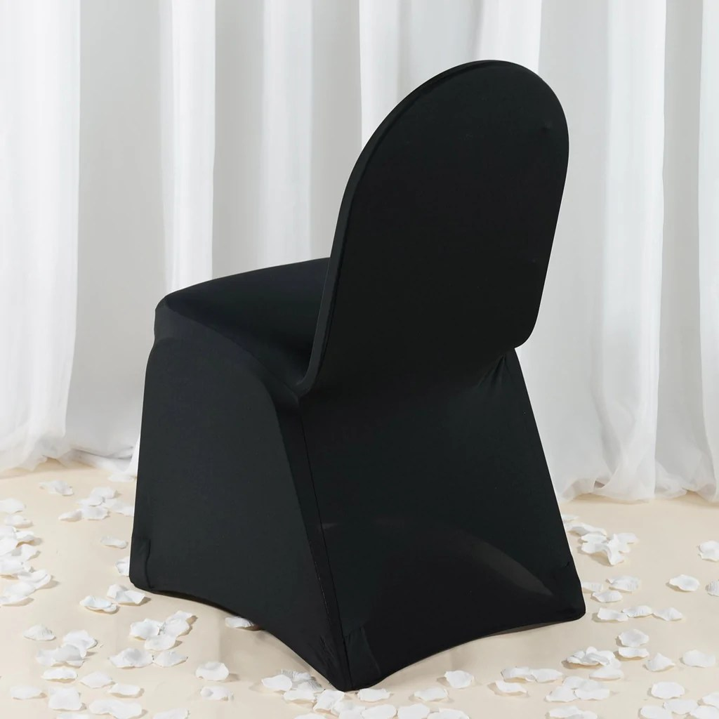 chair covers black herman miller office chairs costco premium spandex cover efavormart