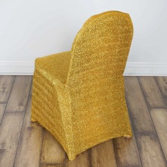 Gold Polyester Chair Covers Hanging Indoor Ceiling My Dreamy Spandex Cover Metallic Efavormart