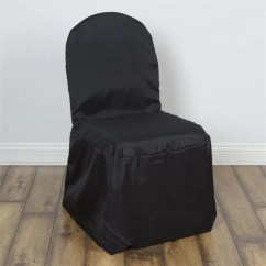 Gray Chair Covers For Weddings Upholstered Counter Height Wholesale Efavormart Black Polyester Banquet