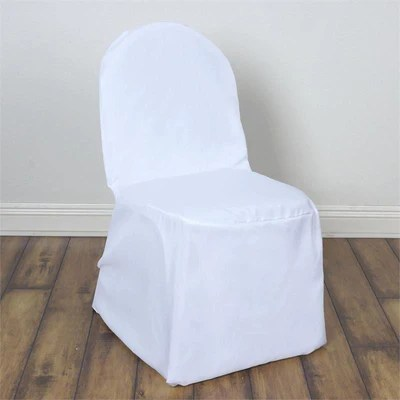 white banquet chair covers how to make sashes polyester efavormart