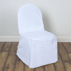 Affordable Chair Covers Upside Down For Back Pain Banquet Efavormart White Polyester