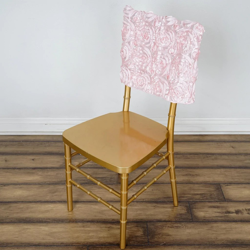 chair covers rose gold stability ball for desk 16 quot rosette chiavari caps cover blush