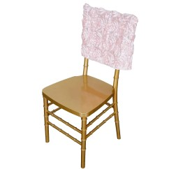Rose Gold Satin Chair Sashes Due North Chairs 16 Quot Rosette Chiavari Caps Cover Blush