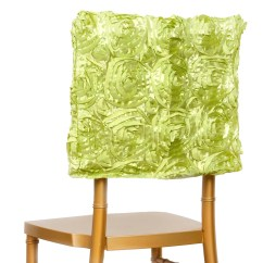 Green Chair Covers Wood Adirondack Chairs Lowes 16 Quot Apple Rosette Chiavari Caps Cover For