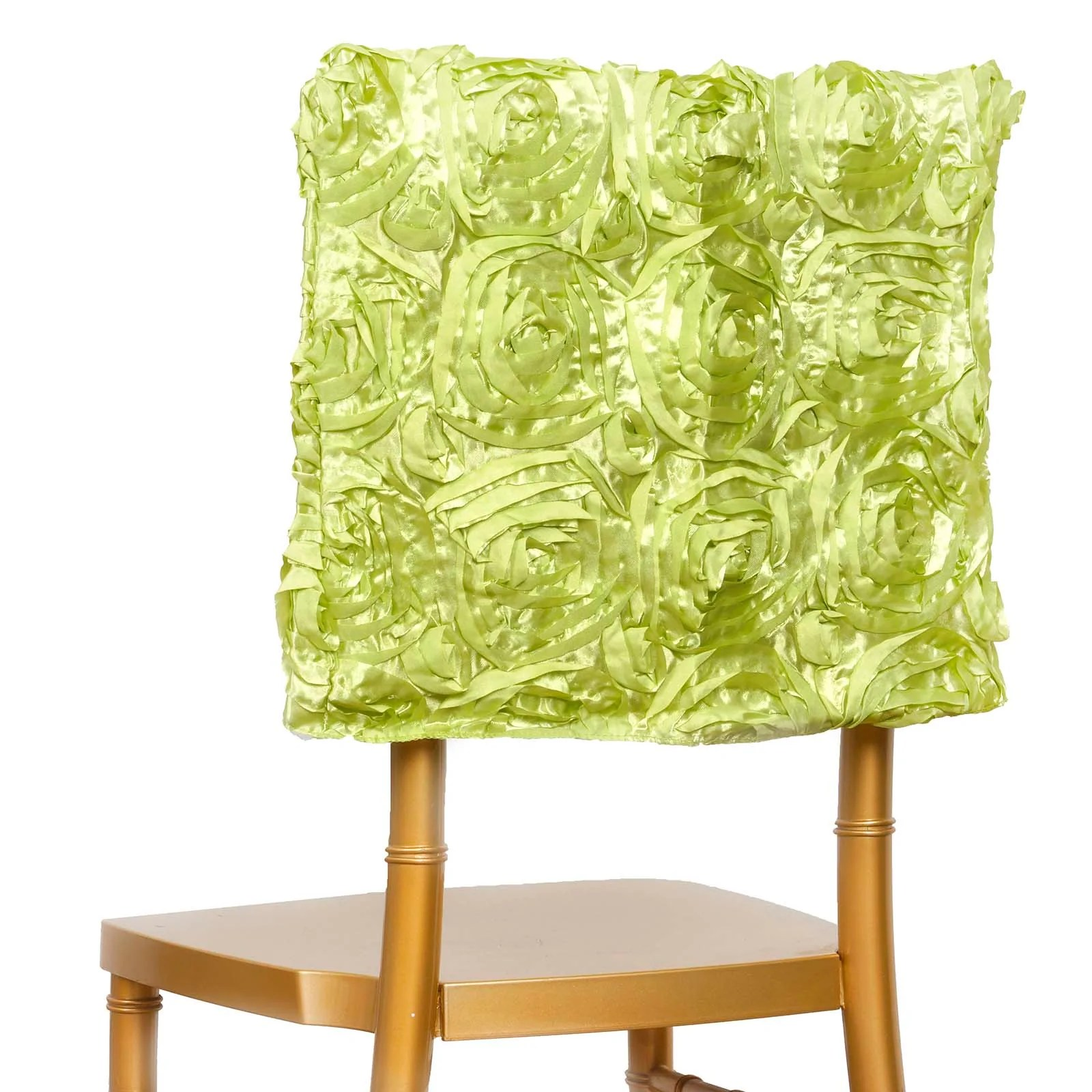 Green Chair Covers 16 Quot Apple Green Rosette Chiavari Chair Caps Cover For