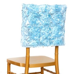Light Blue Chair Covers Kids Table And Chairs Wood 16 Quot Rosette Chiavari Caps Cover For