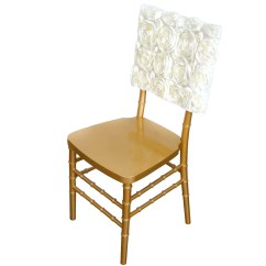 Ivory Wedding Chair Covers For Sale Seat Cushions Chairs 16 Quot Rosette Chiavari Caps Cover Catering