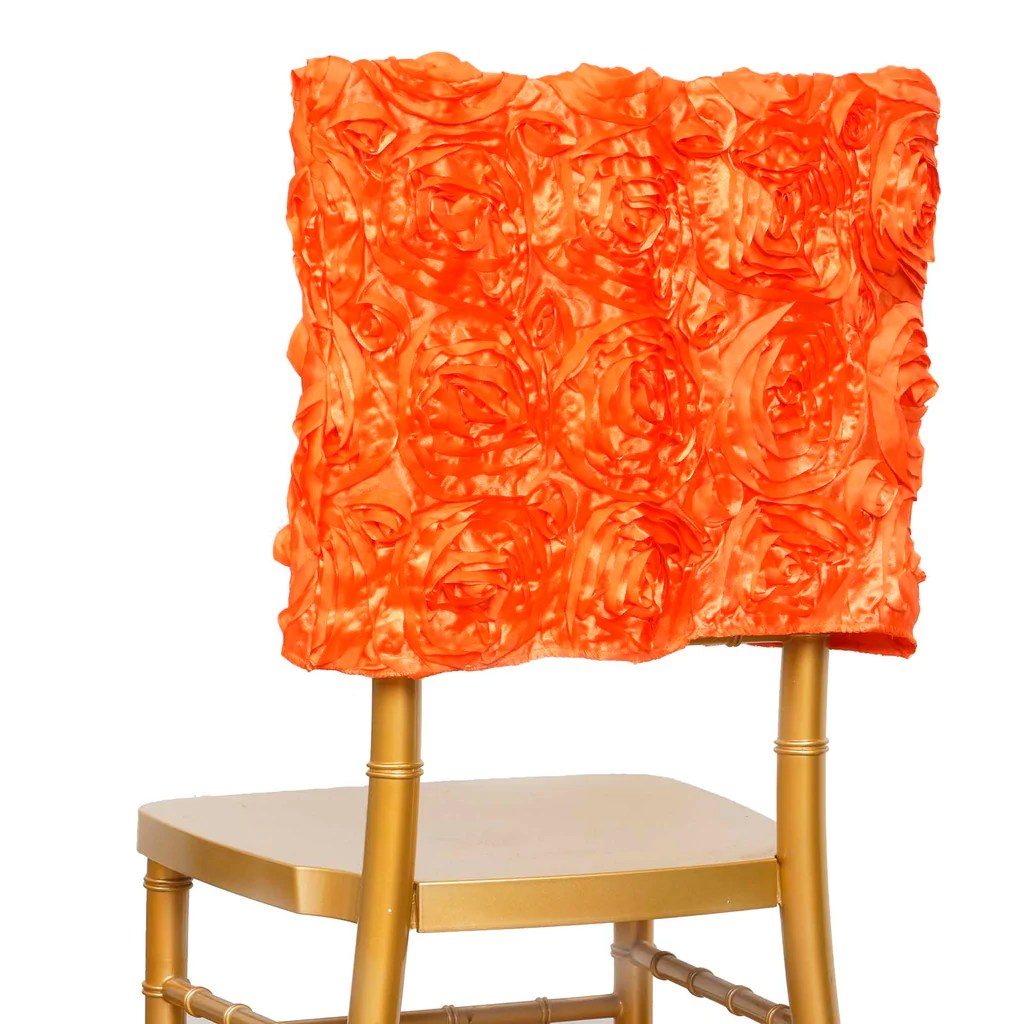 chiavari chair covers ebay wayfair kitchen and dining room chairs 16 quot orange rosette caps cover for catering