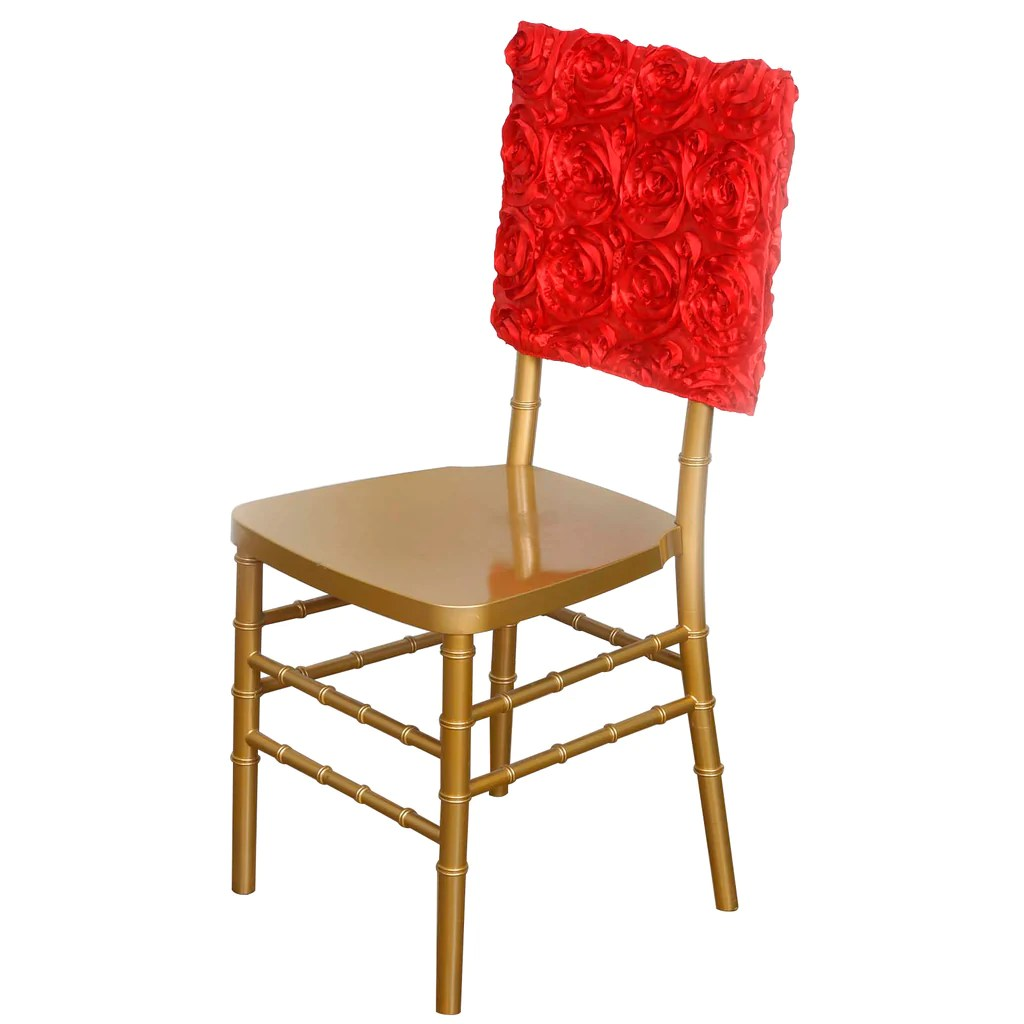 red chair covers wedding best design of all time 16 quot rosette chiavari caps cover for catering