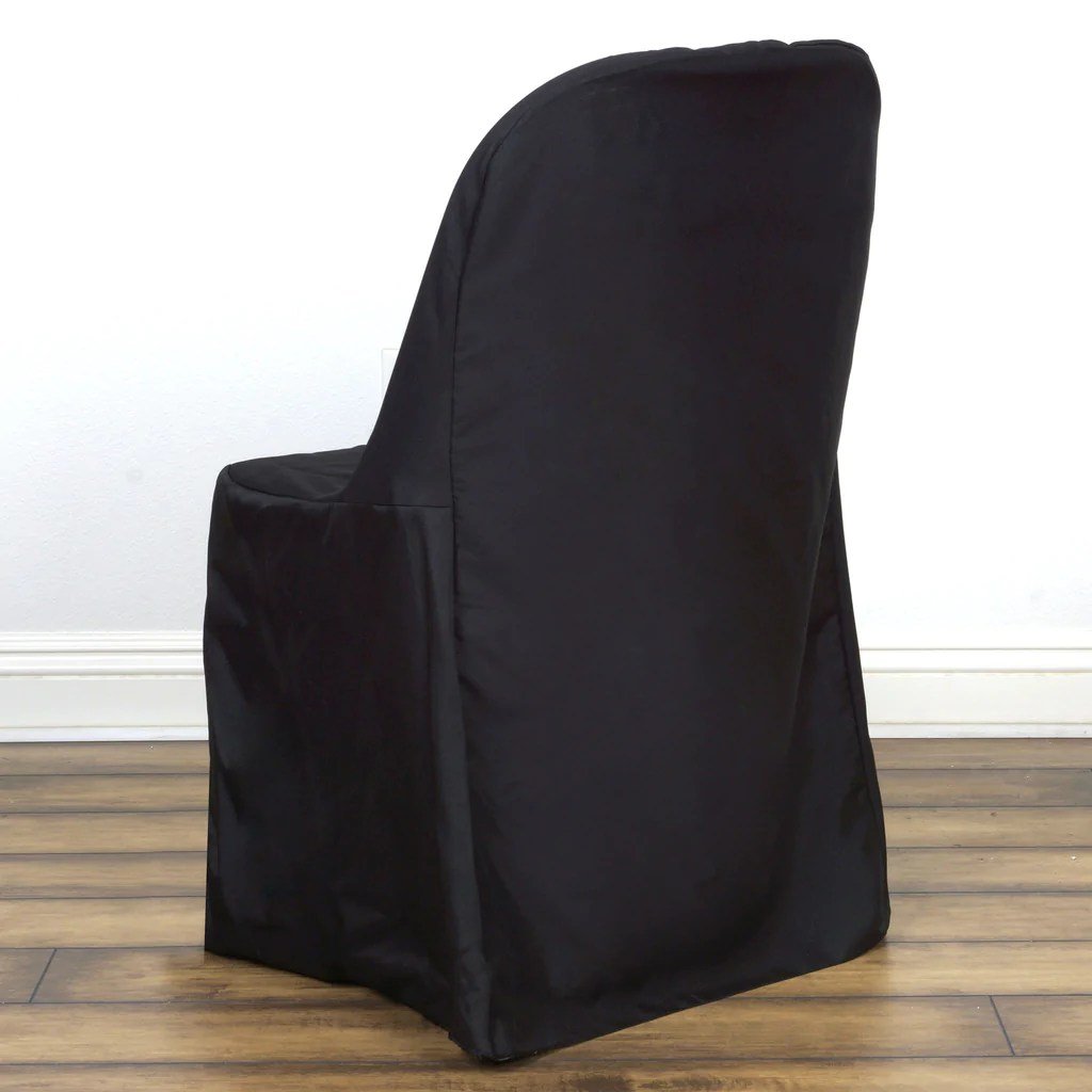 Black Folding Chairs Black Folding Chair Cover Flat Efavormart