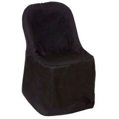 Black Glitter Chair Covers Old World Dining Room Chairs Folding Bulk Efavormart Polyester Flat
