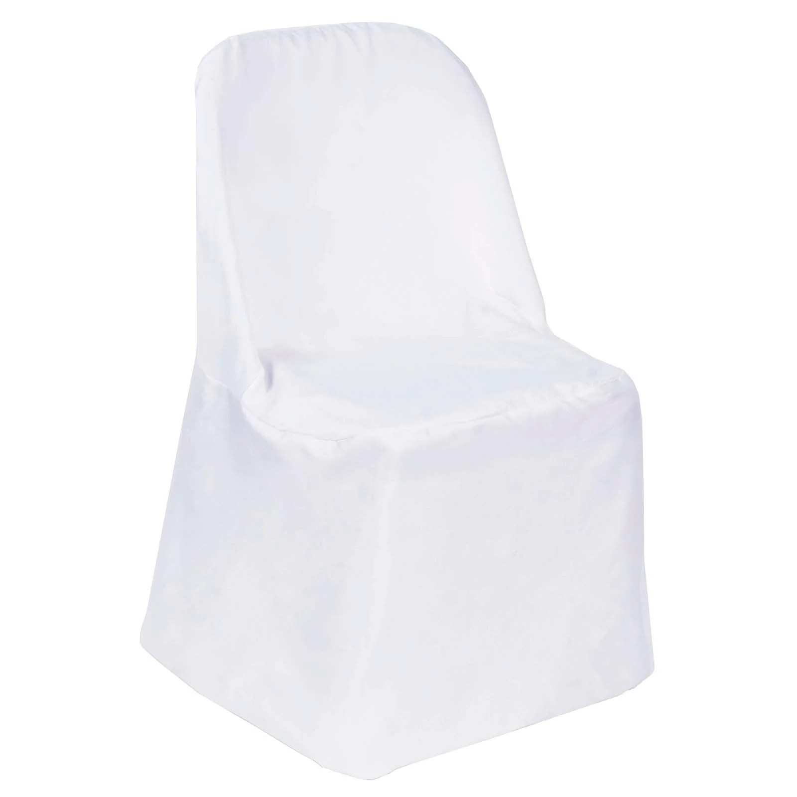 white folding chair covers plastic lawn chairs target polyester flat efavormart