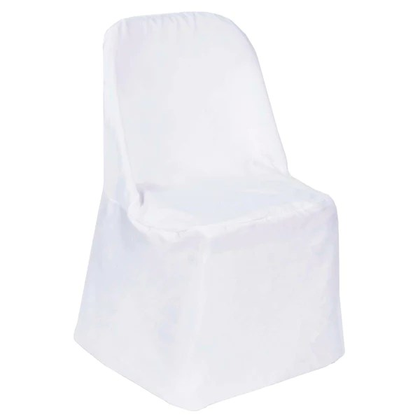 black glitter chair covers antique gooseneck rocking value folding bulk efavormart white polyester flat