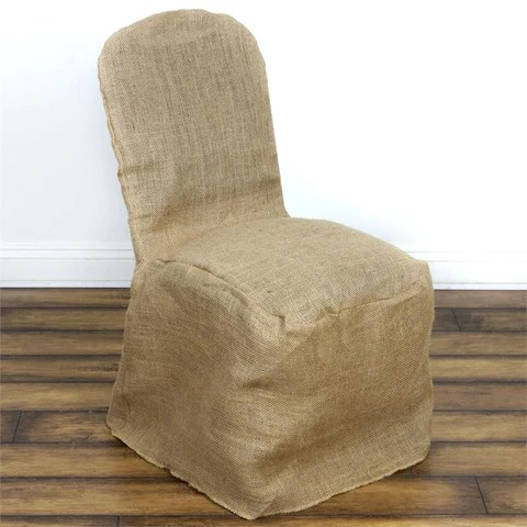 large banquet chair covers hanging pod zara jute burlap cover natural efavormart all color