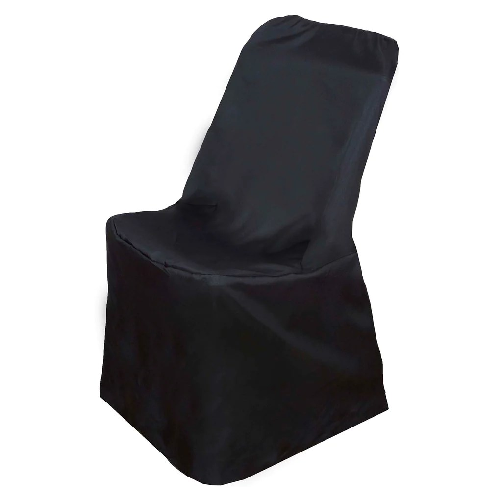 polyester banquet chair covers custom size mats lifetime folding black efavormart