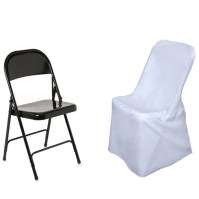 White Polyester Lifetime Folding Chair Covers | eFavorMart