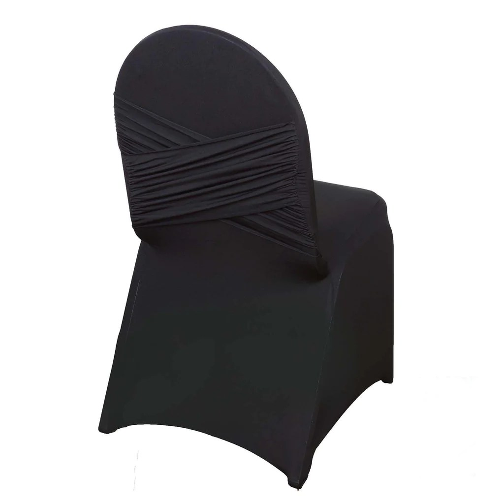 black chair covers for folding chairs long shower premium madrid spandex banquet efavormart