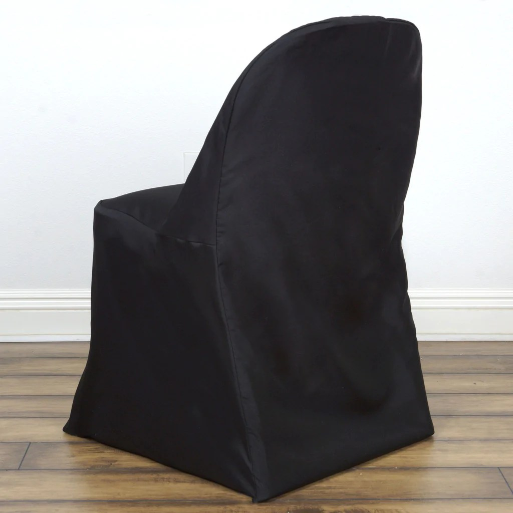 Black Folding Chairs Black Folding Chair Cover Round Efavormart