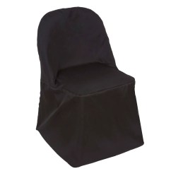 Black Chair Covers For Folding Chairs Office Under 100 Polyester Round Efavormart