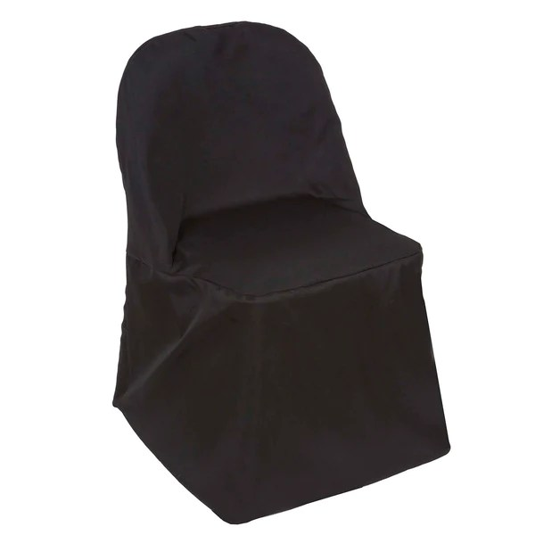 disposable folding chair covers bulk computer station efavormart black polyester round