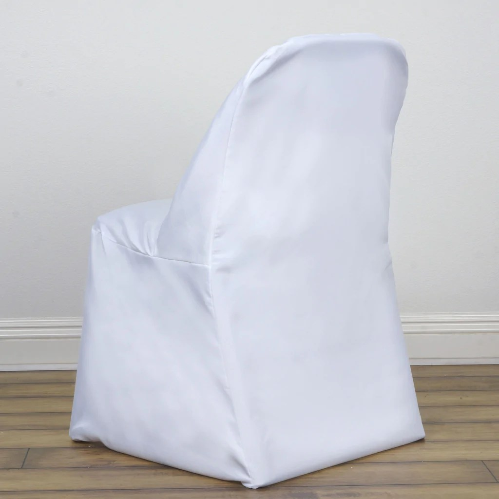 folding chair covers diy wedding decorations for church chairs white cover round efavormart