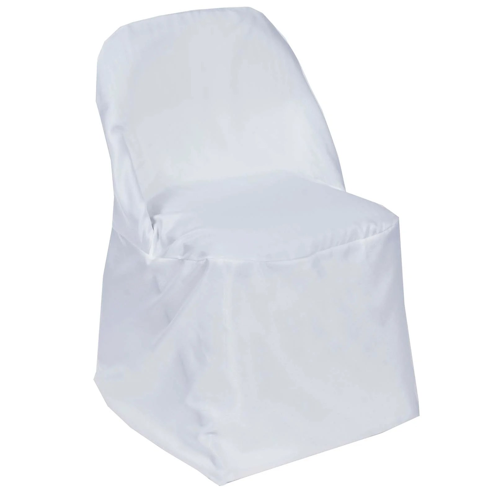 white folding chair covers boss office chairs polyester round efavormart