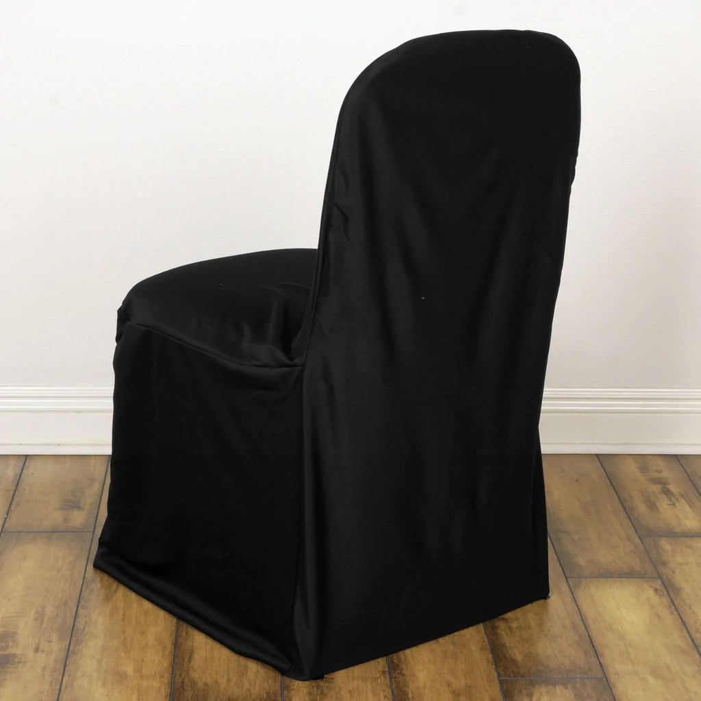 black chair covers for folding chairs green 2005 trailer stretch scuba cover banquet wedding party