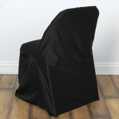 Black Lifetime Chair Covers Leather Modernist Chic Look Stretch Scuba For Folding Cover