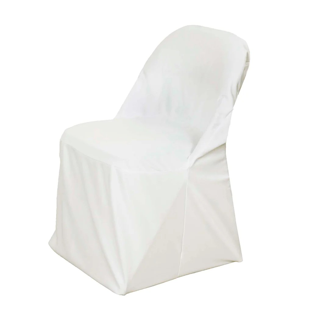 chair covers ivory microfiber oversized and ottoman premium spandex scuba folding