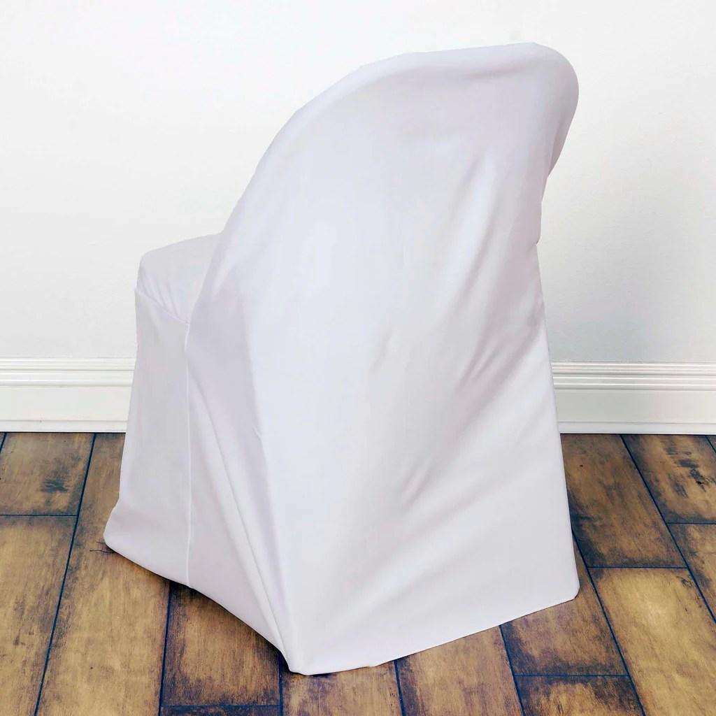white folding chair covers directors camping premium spandex scuba