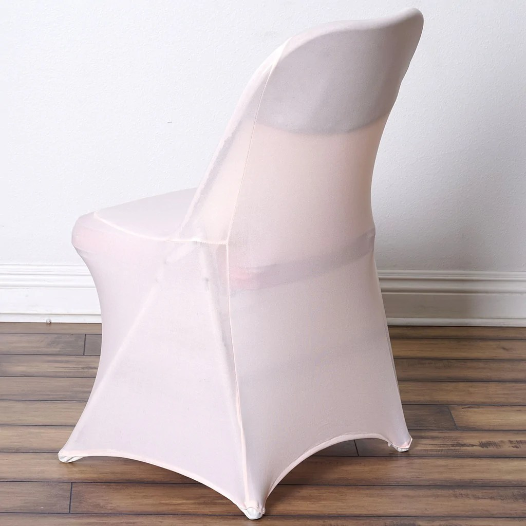 spandex chair covers for lifetime folding chairs sure fit dining canada sleek cover - blush   efavormart