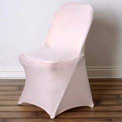 Spandex Chair Covers For Lifetime Folding Chairs Executive Office Johannesburg Stretch Cover Blush Efavormart