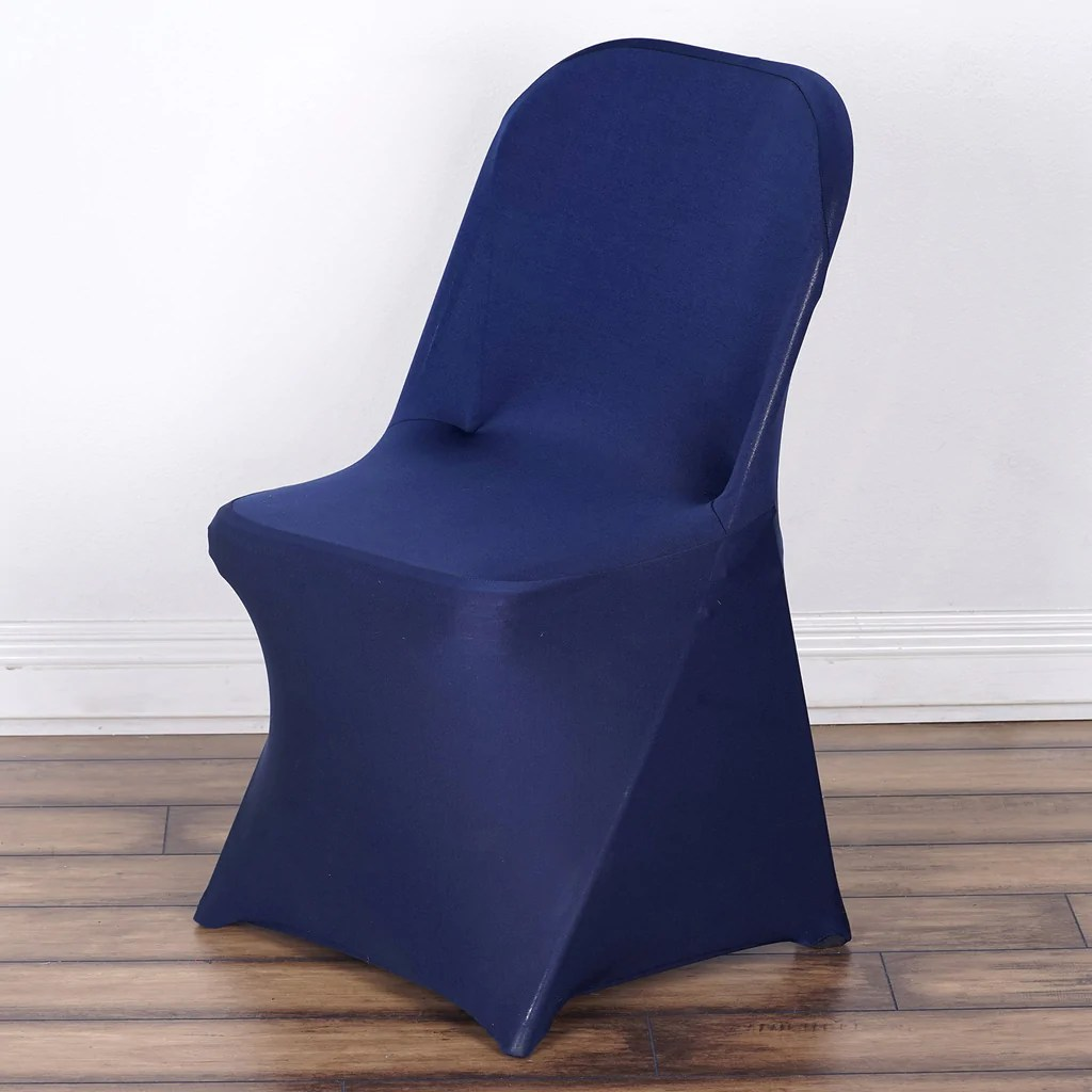 chair covers for baby desk walmart spandex stretch folding cover navy blue efavormart