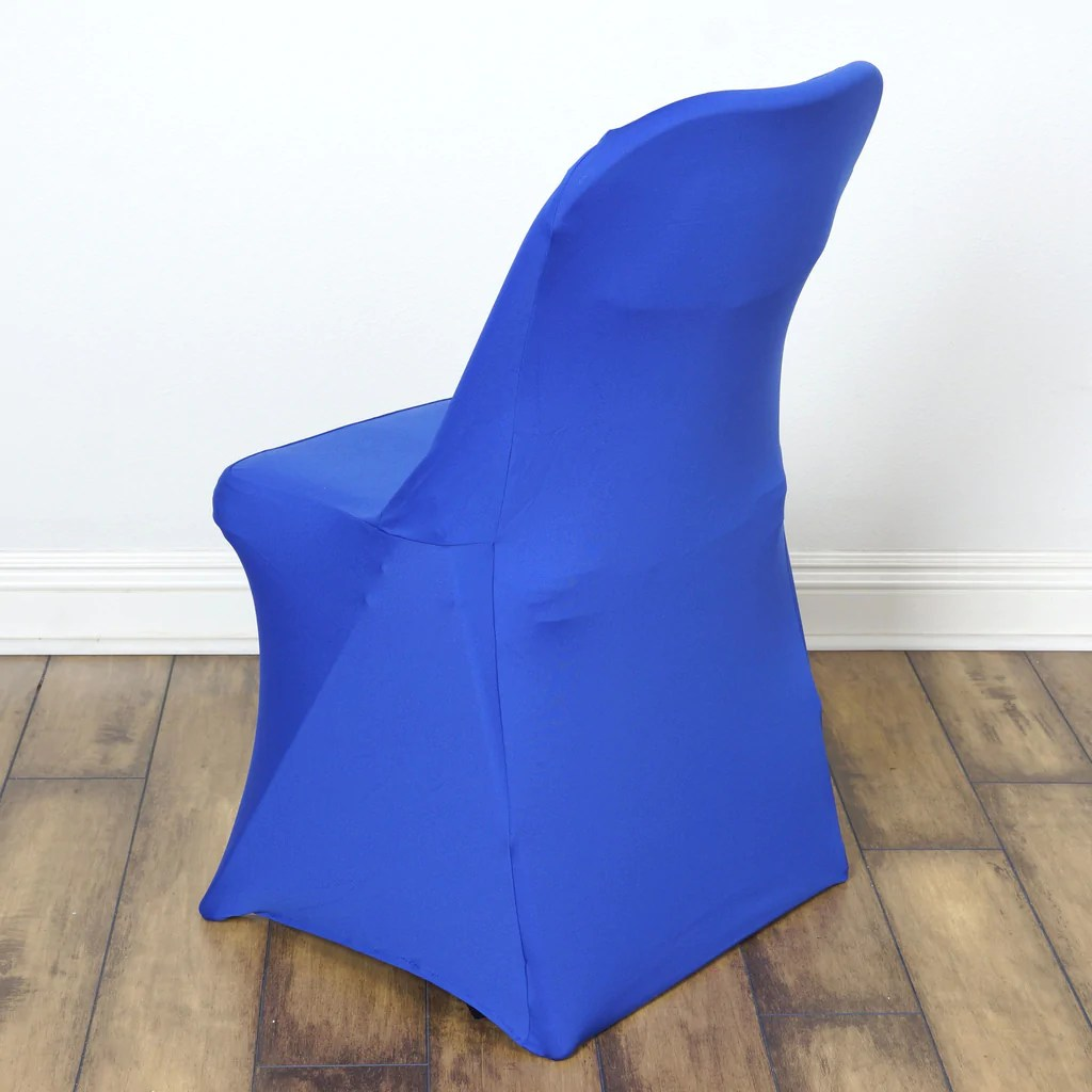 royal blue chair covers red kitchen table chairs sleek spandex folding cover efavormart