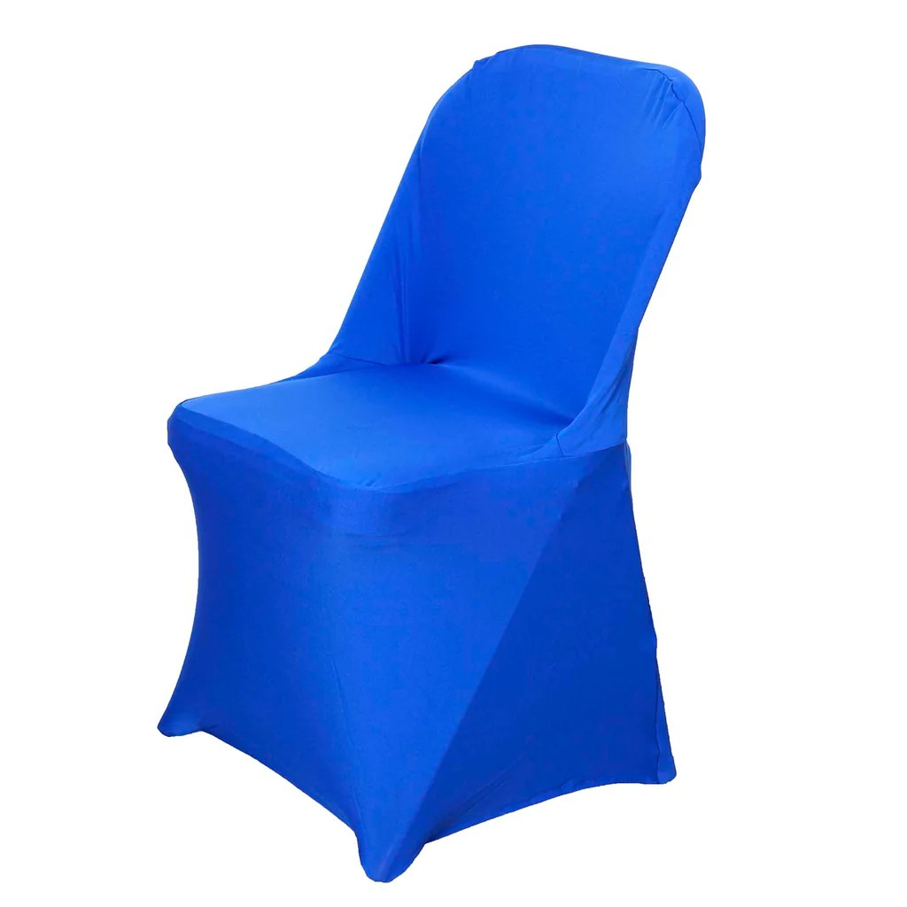 Blue Folding Chairs Spandex Stretch Folding Chair Cover Royal Blue Efavormart