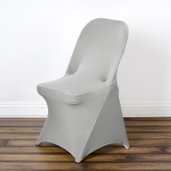 Spandex Folding Chair Covers For Sale Ercol Windsor Rocking Cushions Stretch Cover Silver Efavormart