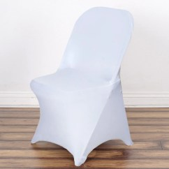 Covers For Folding Chairs Modern Waiting Room Sleek Spandex Chair Cover White Efavormart