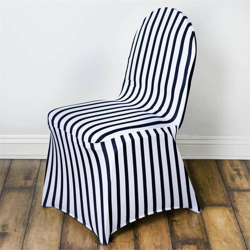 black banquet chair covers for sale office keeps rising striped spandex stretch cover white efavormart