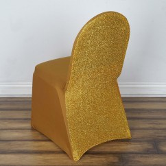 Glitter Chair Covers For Sale Anywhere Insert Gold Spandex Stretch Banquet Cover With Metallic