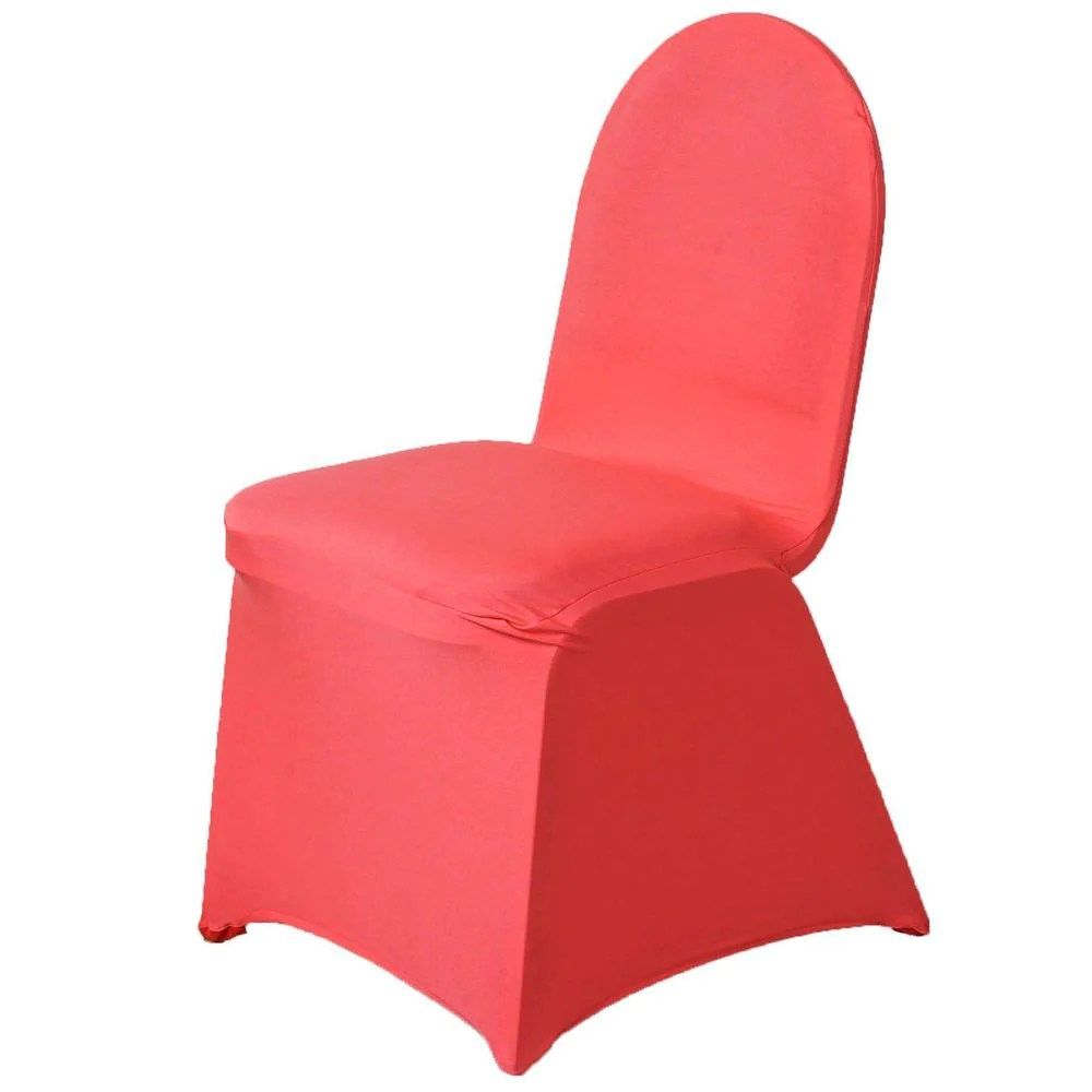 will folding chair covers fit banquet chairs used chiavari for sale coral spandex stretch cover efavormart