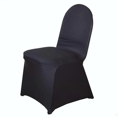 black glitter chair covers rail tile lowes premium banquet stretch spandex cover efavormart an error occurred