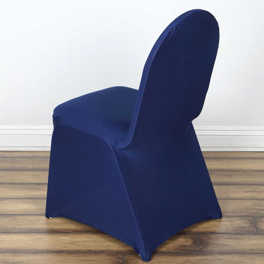 blue chair covers for weddings airbag office prank spandex stretch banquet cover navy efavormart
