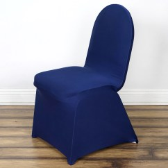Blue Chair Covers For Weddings Little Tikes Large Table And Chairs Spandex Stretch Banquet Cover Navy Efavormart