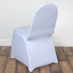 Efavormart Wedding Chair Covers Fishing Mechanism White Spandex Cover