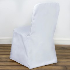 Low Cost Chair Covers Recliner Height Risers Polyester Square Top Banquet White Efavormart