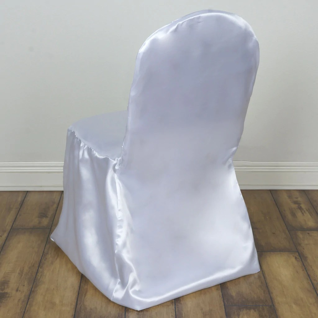 white chair sashes double papasan ikea satin banquet covers efavormart