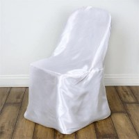 White Satin Folding Chair Covers | eFavorMart