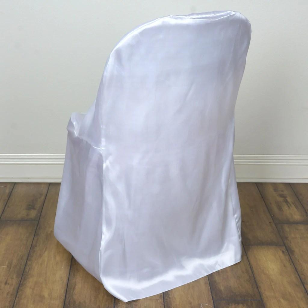 lifetime chair covers ivory design autocad satin folding white efavormart