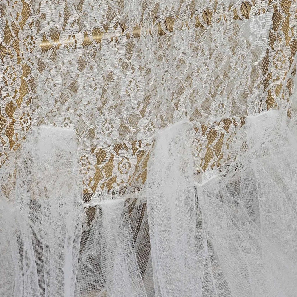 tulle chair covers for wedding pottery barn kids chairs ivory wholesale bridal party lace and tutu