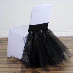 Tulle Chair Covers For Wedding Green Leather Dining Chairs Black Ballerina Spandex Tutu Skirts Efavormart